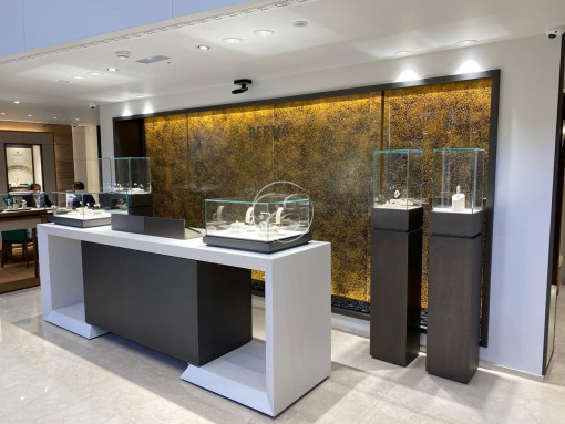 Mur d'eau magasin Rolex