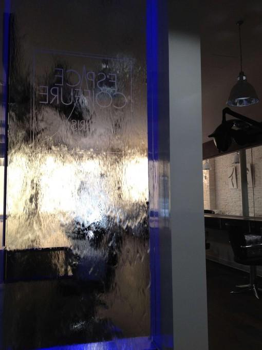 Mur d'eau salon de coiffure ECP Paris 4