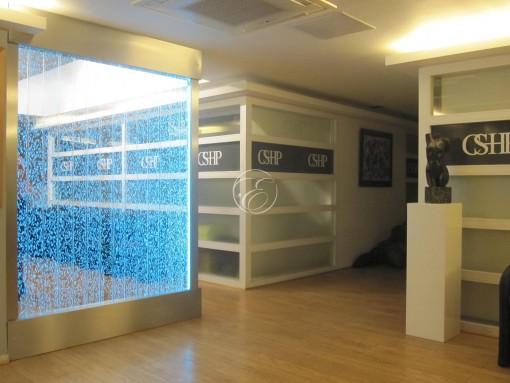 Mur de bulles Clinique esthétique Paris 1