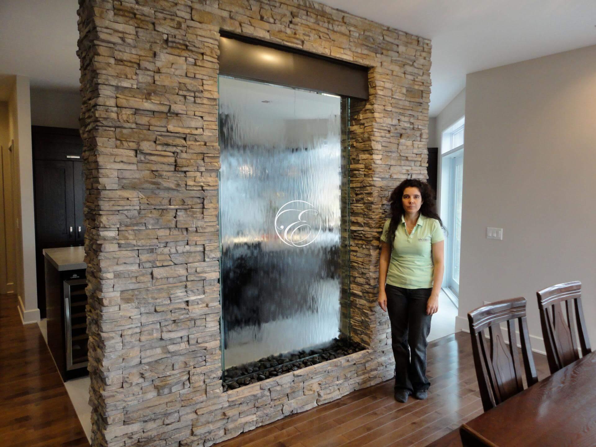 mur d 39 eau encastr habillage en pierre. Black Bedroom Furniture Sets. Home Design Ideas